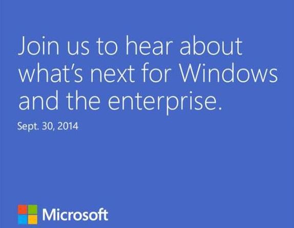 เปิดตัว Windows 9 ? Microsoft เชิญสื่อมวลชนเข้าร่วมงาน 30 กันยายน 2014
