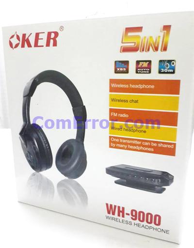ริวิววิธีใช้งานหูฟังไวเลส OKER WH-9000 Wireless Headphone 5 in 1