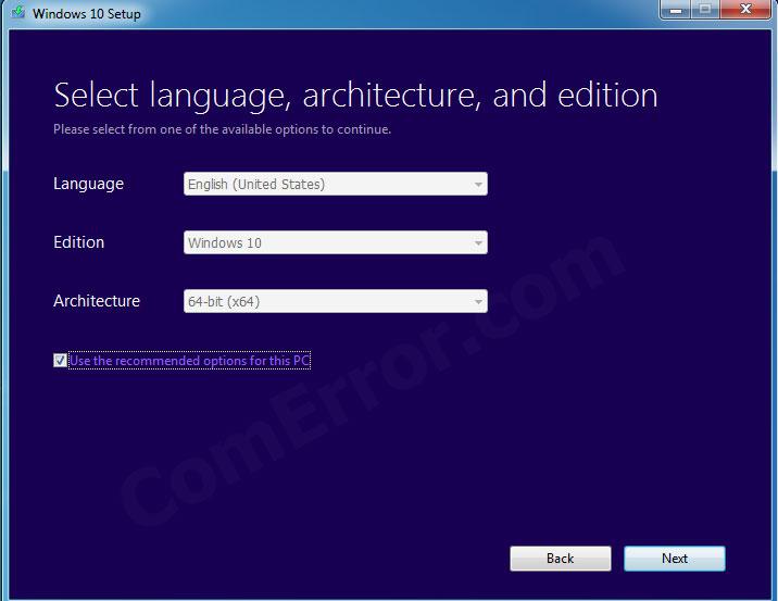 การเลือกข้อมูล USB bootable windows 10