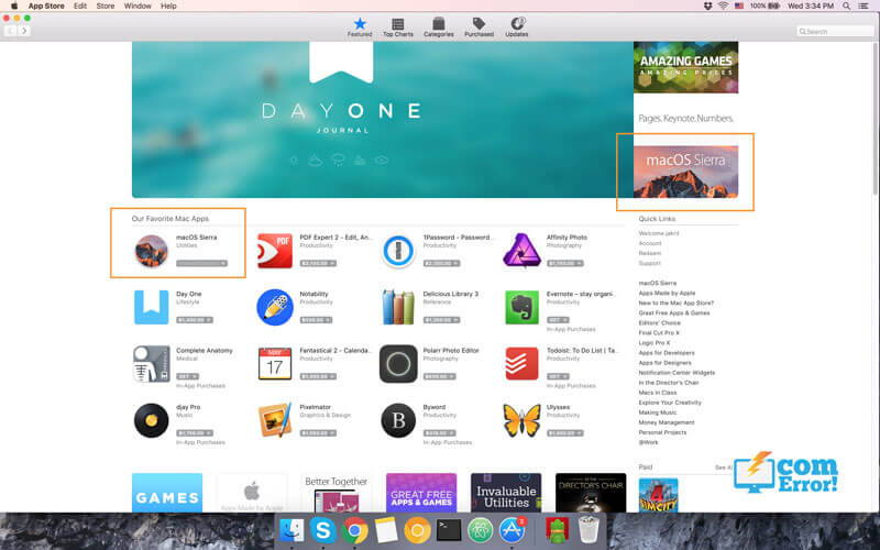 ค้นหาคำว่า macOS Sierra