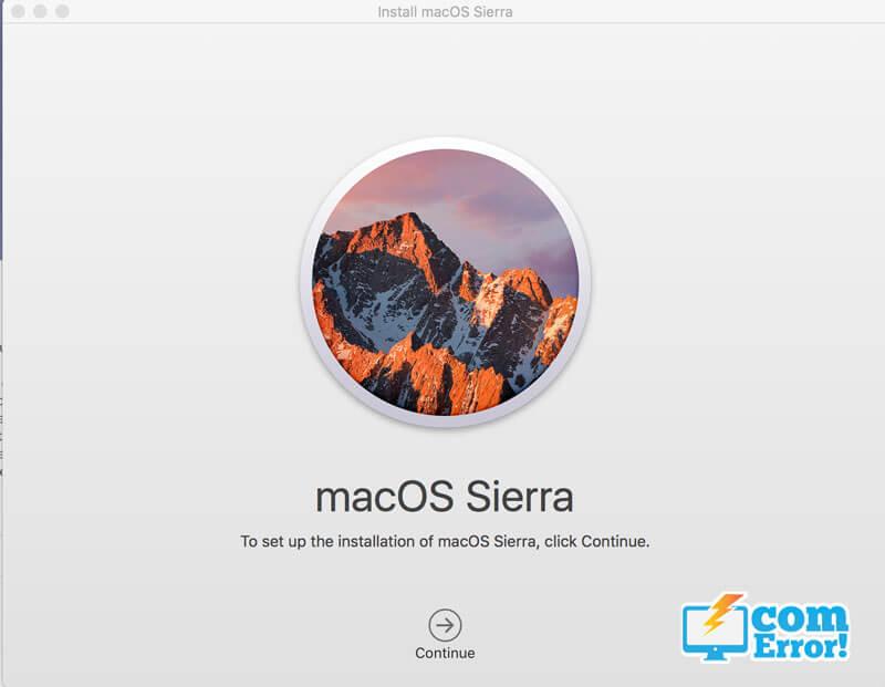 วิธีติดตั้ง macOS Sierra