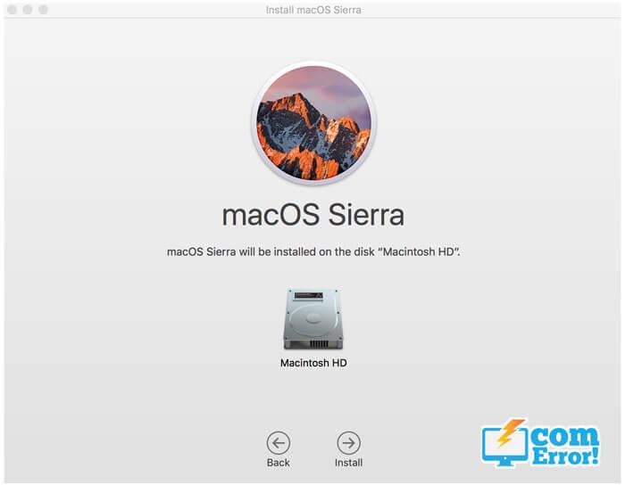 วิธี install os x Sierra
