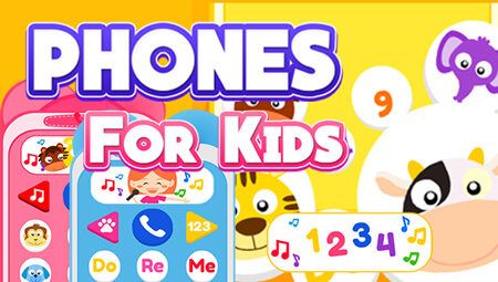Phone for kids mobile application for kids contains with simulation sound in multi-mode.