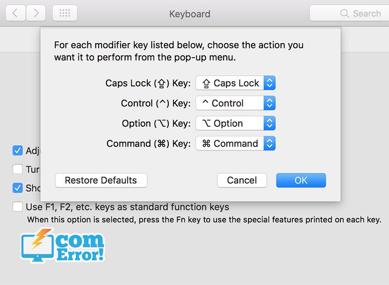 วิธีสลับปุ่ม keyboard macbook เพื่อปรับแต่งหรือเปลี่ยนปุ่ม กรณีบางปุ่มใช้งานไม่ได้