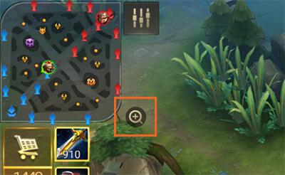 เกม ROV คลิกเพื่อขยาย (zoom) แผนที่ออก