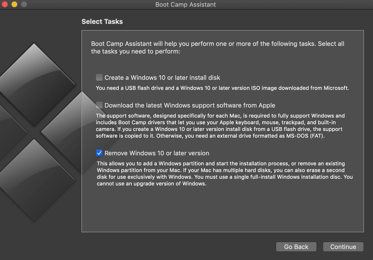 วิธีลบ Windows ออกจาก Mac