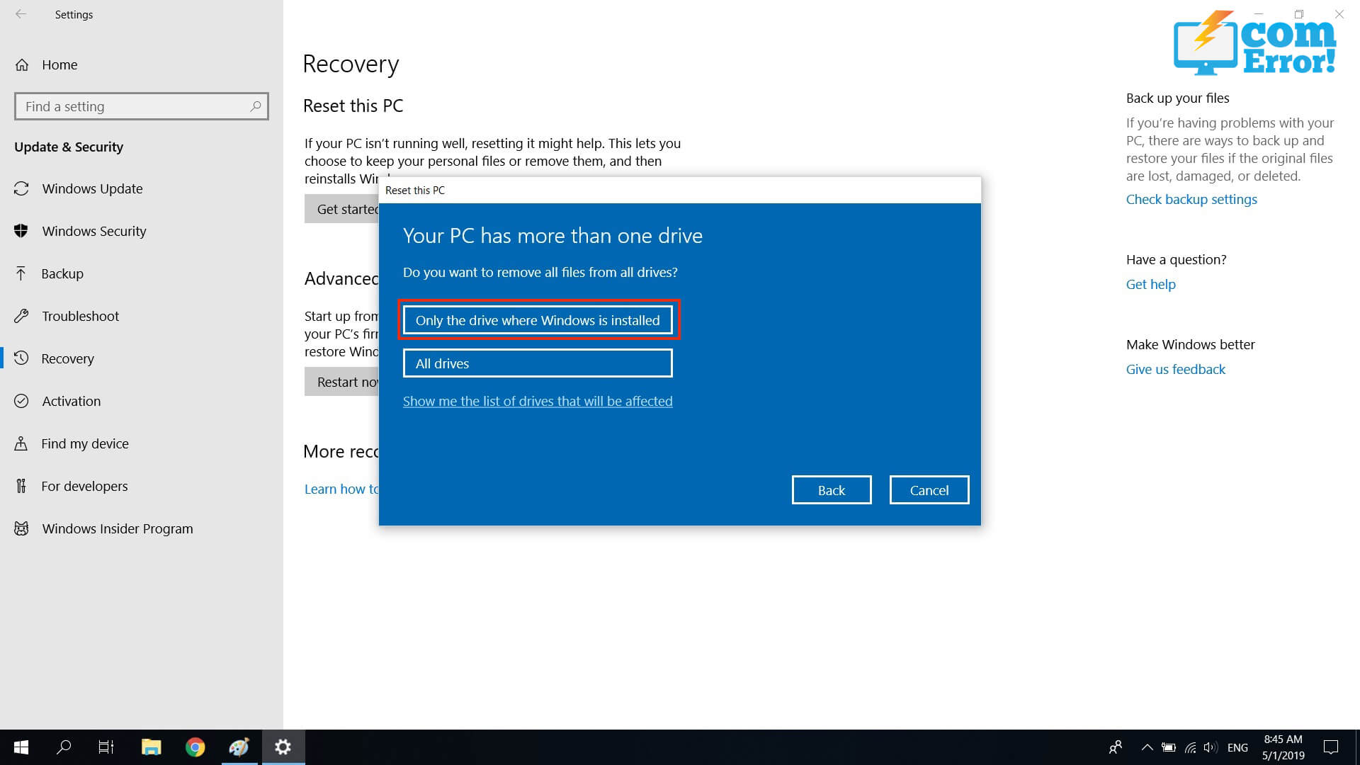 วิธี Reset Windows 10 ให้เหมือนออกมาใหม่จากโรงงาน