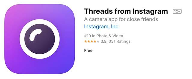 Threads for iOS แอพแชทส่วนตัว สำหรับเพื่อนสนิท
