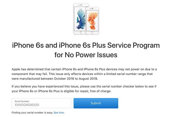 Apple ประกาศ iPhone 6s และ 6s plus รุ่นที่มีปัญหาเปิดไม่ติด สามารถตรวจสอบและซ่อมฟรี