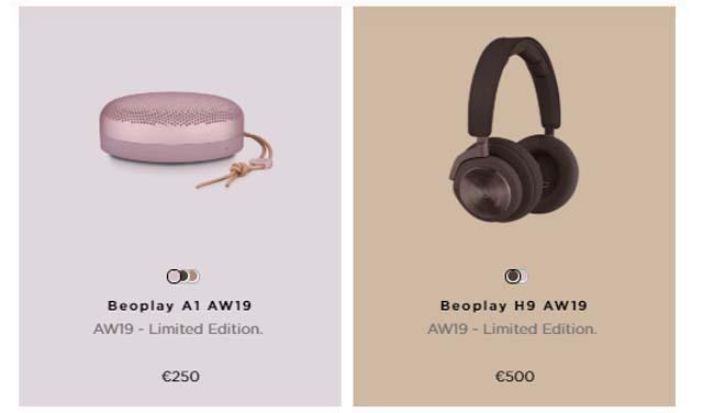 Bang & Olufsen เปิดตัวเครื่องเสียง AW19 Collection ใหม่