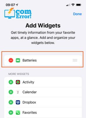 วิธีเช็คเปอร์เซ็น Battery คงเหลือ โดยดูผ่าน Widget