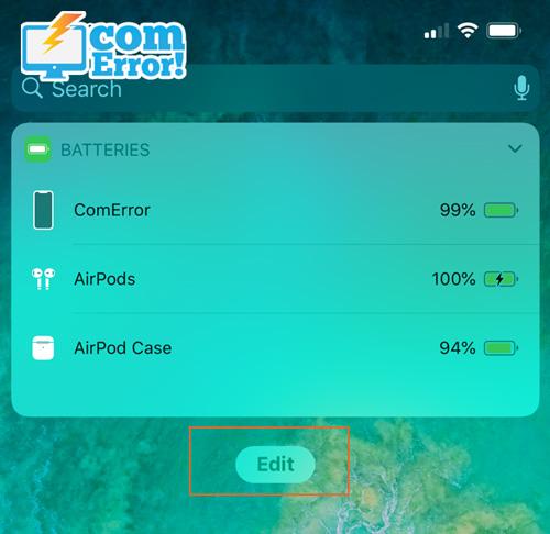 iPhone ของเราจะแสดงเปอร์เซ็นต์แบตเตอร์รี่คงเหลือทั้งหมด ของอุปกรณ์ apple ทุกชิ้นของเราที่เชื่อมต่อกับเครื่องอยู่