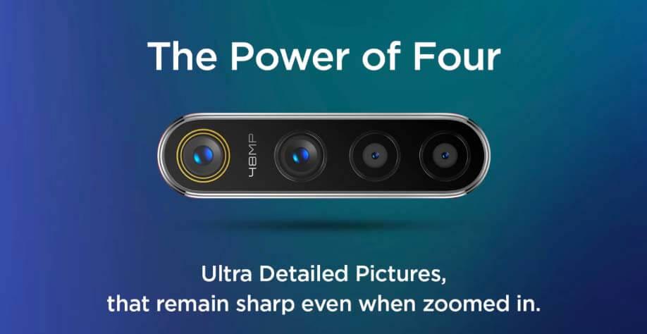 Realme 5 Pro กล้องหลัง เซ็นเซอร์หลัก 48 MP + 13 MP + 8 MP + 2 MP