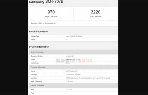 Samsung Galaxy Z Flip (5G) โผล่ทดสอบประสิทธิภาพบน Geekbench มาพร้อม Snapdragon 865
