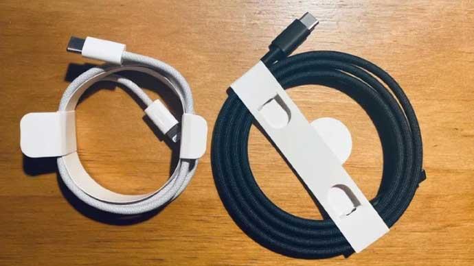 หลุด!! ภาพ Lightning to USB Type-C สายชาร์จ iPhone แบบสายถัก คาดว่าจะมาพร้อมกับ iPhone 12