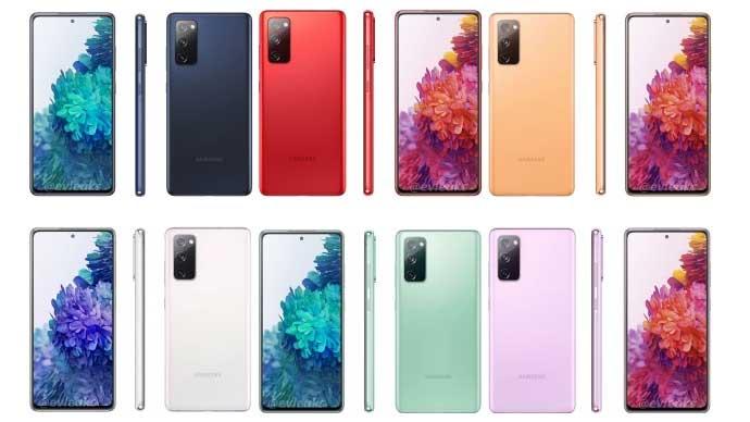 หลุด!! ภาพเรนเดอร์ของ Samsung Galaxy S20 Fan Edition มีให้เลือกมาถึง 6 สี