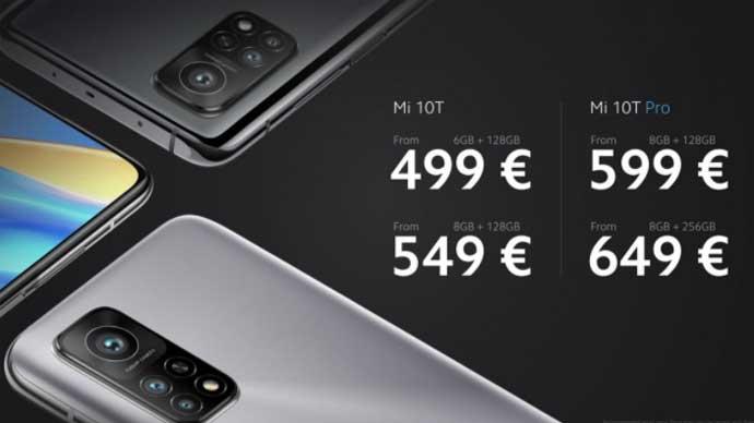 Xiaomi เปิดตัว Mi 10T และ Mi 10T Pro สมาร์ทโฟนที่ใช้ชิปเซ็ต Snapdragon 865 จาก Qualcomm มาพร้อมหน้าจอแสดงผลสูงสุด 144Hz ขนาดใหญ่ 6.67 นิ้ว