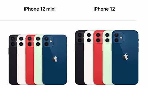 รายละเอียดของ iPhone 12 Mini / iPhone 12