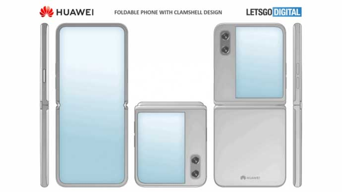 เผย !! ภาพสิทธิบัตรของ Huawei สมาร์ทโฟนฝาพับเก็บได้ คล้ายกับ Samsung Galaxy Z Flip อย่างมาก