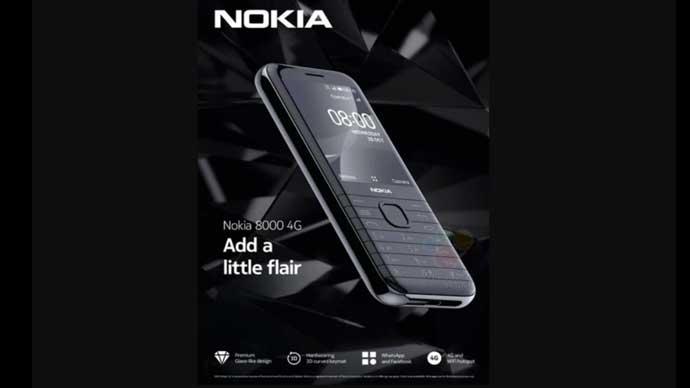 หลุด!! ภาพและสเปกของ Nokia 8000 (4G) มาพร้อมหน้าจอแสดงผล ขนาด 2.8 นิ้ว , ชิปเซ็ต Snapdragon 210 , รองรับ WhatsApp และFacebook
