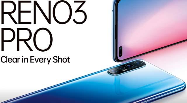 Oppo เปิดตัว Reno3 Pro (4G) กล้องหน้าคู่ 44MP พร้อมเผยราคาในอินเดีย