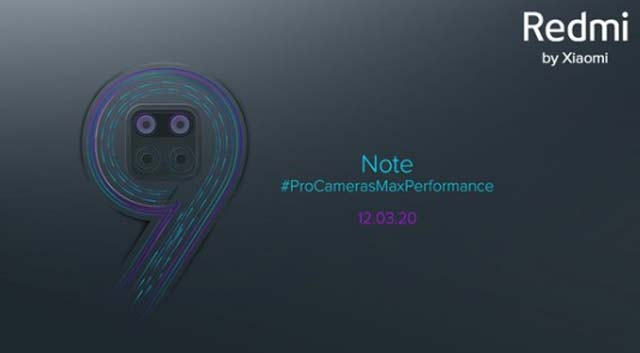 Redmi Note 9 series จะมาในวันที่ 12 มีนาคม 2020 นี้