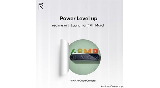 Realme เตรียมเปิดตัว Realme 6i มาพร้อมชิป MediaTek Helio G80 ในวันที่ 17 มีนาคม 2020 นี้