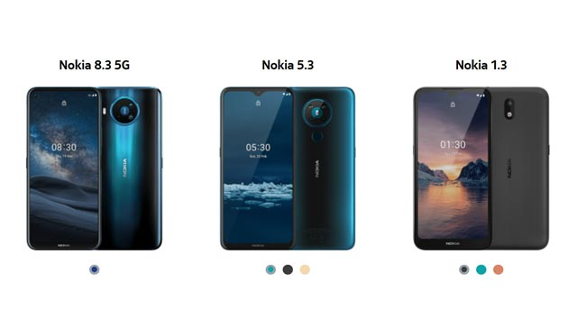 HMD Global เปิดตัวสมาร์ทโฟน Nokia 8.3 (5G) , Nokia 5.3 และ Nokia 1.3(Go edition)
