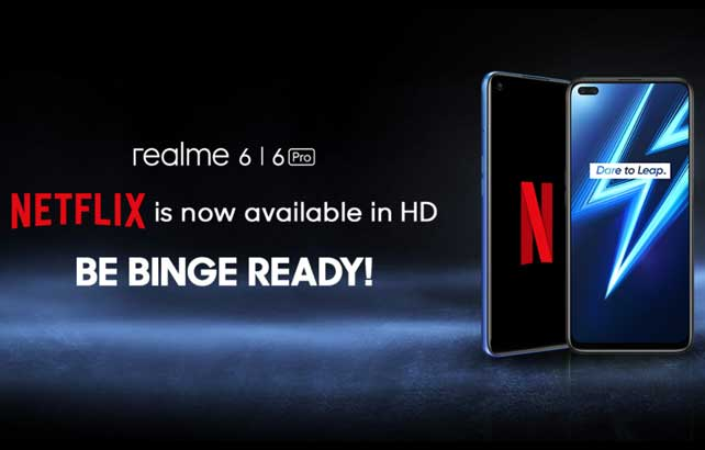 Realme 6 Series ปล่อยอัปเดทใหม่ สามารถดู Netflix ความละเอียดระดับ HD ได้แล้ว