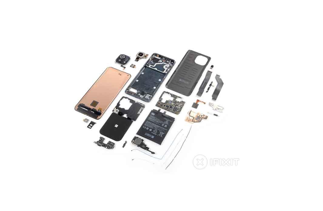 iFixit เผยคะแนนทดสอบความยากง่ายในการซ่อมของสมาร์ทโฟน Xiaomi Mi 11 พบว่าได้คะแนนเกือบกลางๆ 4/10 คะแนน
