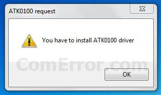 วิธีแก้ปัญหา Notebook ASUS แจ้งเตือน You have to install ATK0100 driver