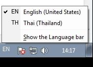 วิธีแก้ไขปัญหาแถบ Language Bar ของ Windows 7 หาย