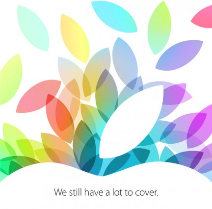 Apple คอนเฟิร์ม 22 ตุลาคม 2013 ร่อนบัตรเชิญสื่อร่วมงานเปิดตัว iPad 5 , iPad Mini 2