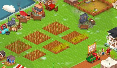 การปลูกผักในเกมส์ Hay Day
