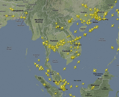 ตรวจสอบเที่ยวบิน ค้นหาเที่ยวบิน เช็คสถานะของเครื่องบิน