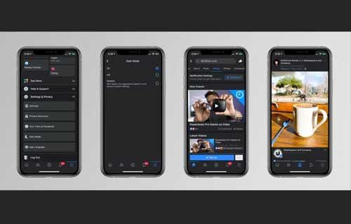 หลุด!! ภาพ Screenshots โชว์ดีไซน์ Dark Mode ของ Facebook บนระบบ iOS
