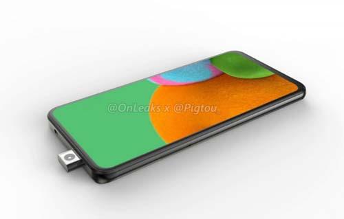 เผยภาพเรนเดอร์ของสมาร์ทโฟนที่มาพร้อมกับกล้องหน้าแบบป๊อปอัพ คาดเป็น Samsung Galaxy A รุ่นใหม่