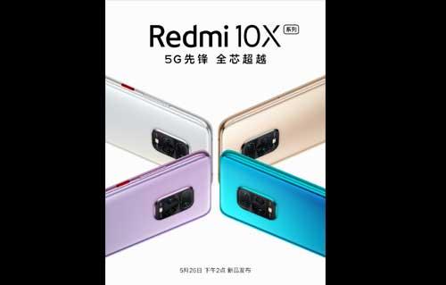 Xiaomi ปล่อยภาพทีเซอร์ เตรียมเปิดตัว Redmi 10X Series สมาร์ทโฟน (5G) ที่มาพร้อมกับ Dimensity 820 ในวันที่ 26 พฤษภาคม 2020 นี้