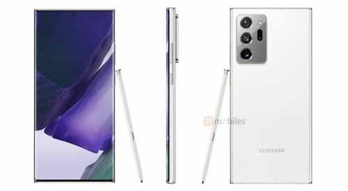 เผย!! ภาพเรนเดอร์ของ Samsung Galaxy Note20 Ultra ในเฉดสีขาว Mystic White
