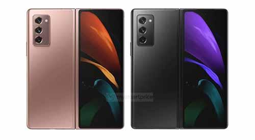 เผย!! ภาพเรนเดอร์ของ Samsung Galaxy Z Fold 2 (5G) แบบชัดๆในเฉดสี Mystic Bronze และ Mystic Black