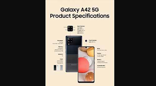 เผย!! รายละเอียดสเปกเต็มของ Samsung Galaxy A42 สมาร์ทโฟน 5G ในราคาประหยัด