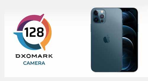 iPhone 12 Pro ได้คะแนนทดสอบประสิทธิภาพกล้องจาก DxOMark รวม 128 คะแนน สูงกว่า iPhone 11 Pro รุ่นก่อนเพียงเล็กน้อย