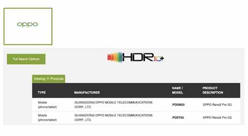 เผย!! OPPO Reno 5 Pro (5G) ได้ผ่านการรับรองจาก HDR10 + ก่อนเปิดตัวอย่างเป็นทางการที่ประเทศจีนในเร็วๆนี้