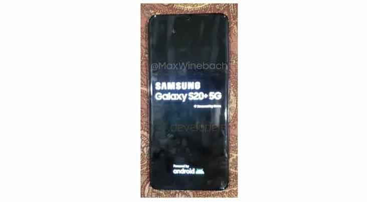 หลุด!! ภาพเครื่องจริงของ Samsung Galaxy S20+ เวอร์ชั่น 5G สมาร์ทโฟนเรือธงรุ่นใหม่ของ Samsung
