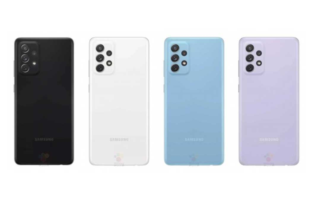 หลุด!! ภาพเรนเดอร์ทางการครบทุกสีและสเปกล่าสุดของ Samsung Galaxy A72 (4G) ก่อนเปิดตัวในเร็วๆนี้