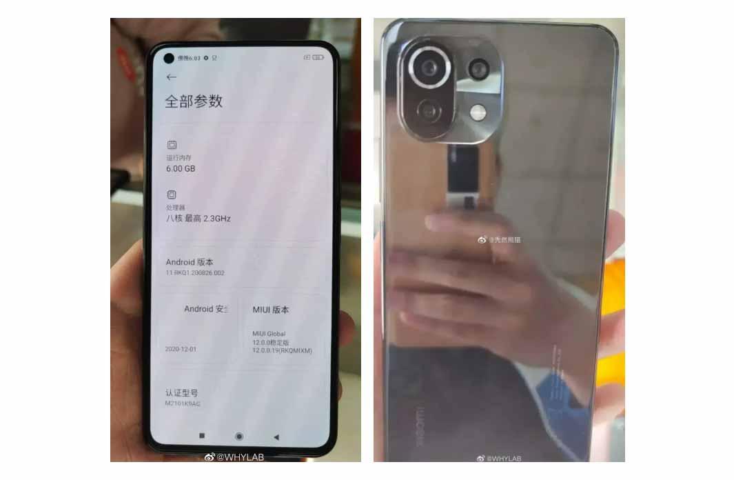 หลุด!! ภาพเครื่องจริงของ Xiaomi Mi 11 Lite มาพร้อมหน้าจอแบน และกล้องหลัง 3 ตัว ดีไซน์คล้าย Xiaomi Mi 11